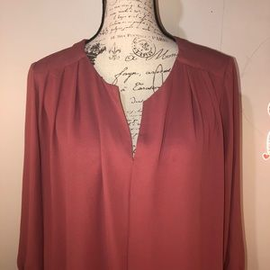 Anthropologie rust colored blouse by Pleione sz Lg